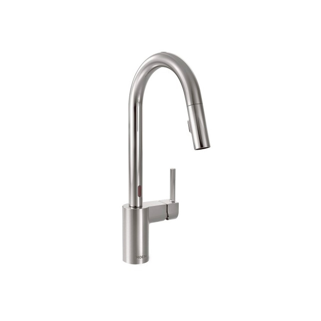 Align Chrome One-Handle High Arc MotionSense Pulldown Kitchen Faucet