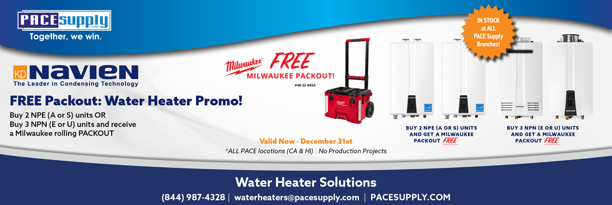 Navien Water Heater Packout Promotion