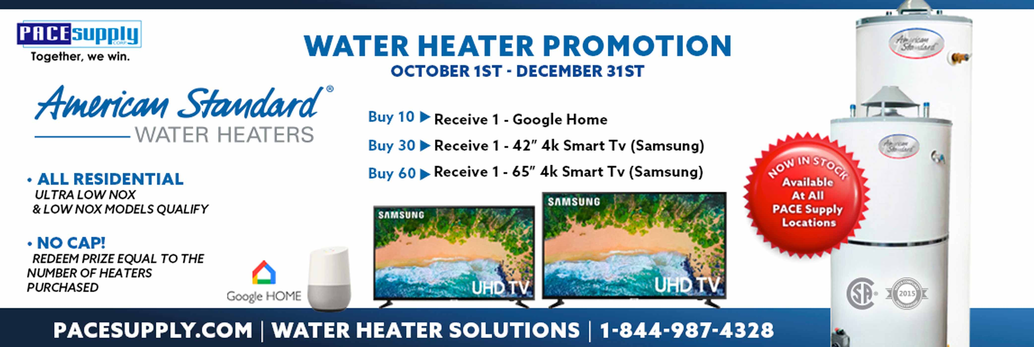 American Standard Water Heater Promotion